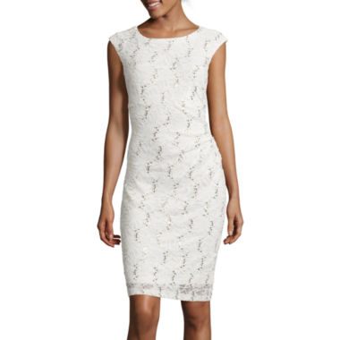 jcpenney.com | Ronni Nicole Cap-Sleeve Lace Sheath Dress