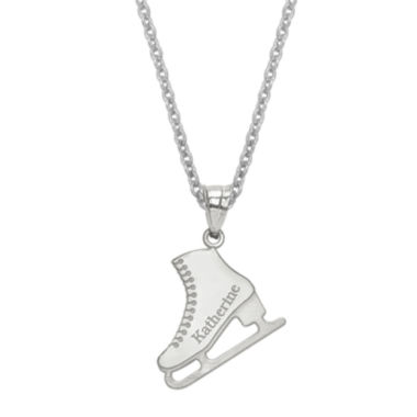 jcpenney.com | Personalized Ice Skating Name Pendant Necklace
