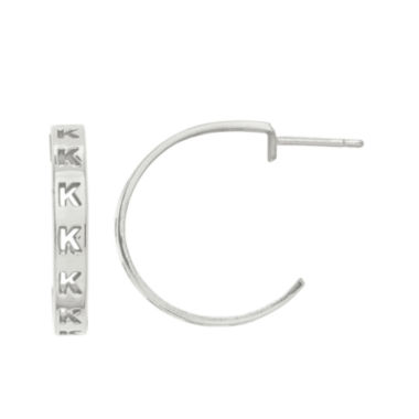 jcpenney.com | Personalized Initial Hoop Earrings