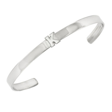 jcpenney.com | Personalized Sterling Silver Single Initial Cuff Bracelet