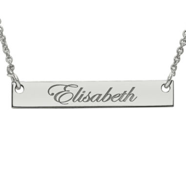 jcpenney.com | Personalized 4x26mm Script Name Bar Necklace