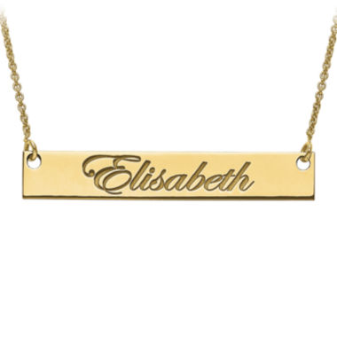 jcpenney.com | Personalized 6x39mm Script Name Bar Necklace