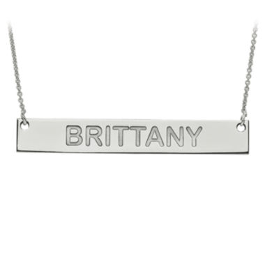 jcpenney.com | Personalized 7x51mm Block Name Bar Necklace