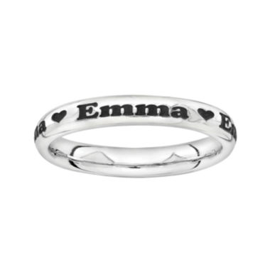 jcpenney.com | Sterling Silver Personalized Heart Ring