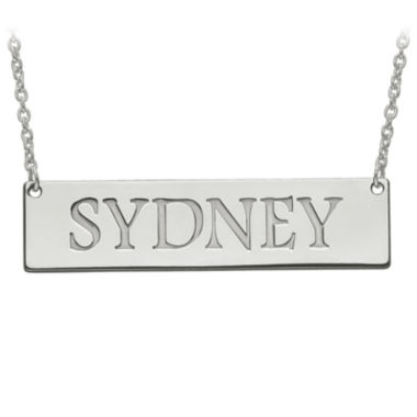 jcpenney.com | Personalized 12x51mm Name Bar Necklace