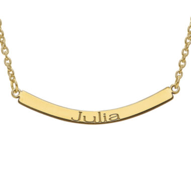 jcpenney.com | Personalized Curved Name Bar Necklace