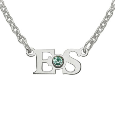 jcpenney.com | Personalized Birthstone 2 Initial Pendant Necklace