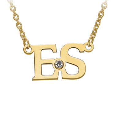 jcpenney.com | Personalized Birthstone 2 Initial Necklace