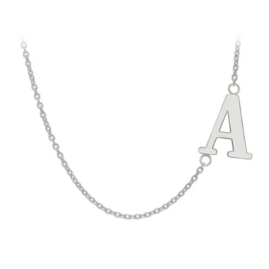 jcpenney.com | Personalized Sideways Single Initial Necklace