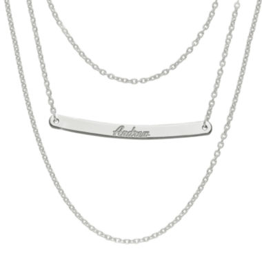 jcpenney.com | Personalized Sterling Silver Name Bar Necklace
