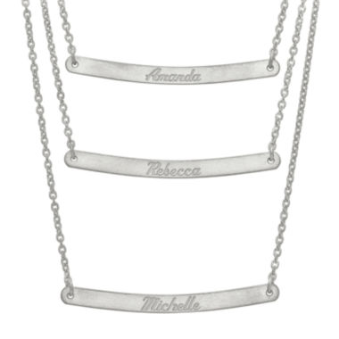 jcpenney.com | Personalized Sterling Silver 3-pc. Name Bar Necklace