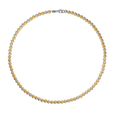 jcpenney.com | 18K Tri-Color Gold Bead Necklace