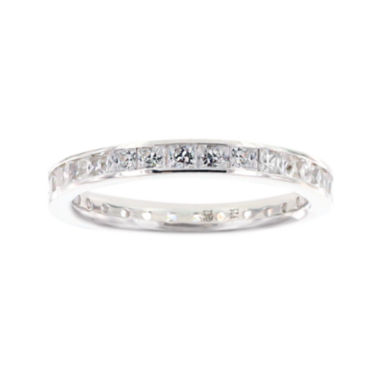 jcpenney.com | Diamonart® Princess Cubic Zirconia Sterling Silver Eternity Band Ring