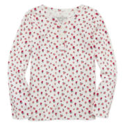 OshKosh B'Gosh® Long-Sleeve Printed Top - Toddler Girls 2t-4t