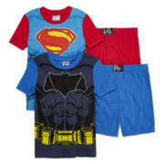 DC Comics™ Batman vs. Superman 4-pc. Pajama Set - Boys 4-10