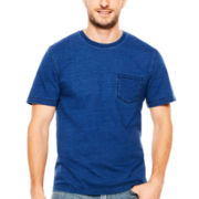 St. John's Bay® Short-Sleeve Indigo Pocket Tee