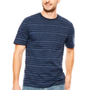 St. John's Bay® Short-Sleeve Striped Indigo Pocket Tee