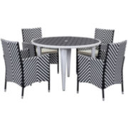 Carla 5-pc. Outdoor Dining Set