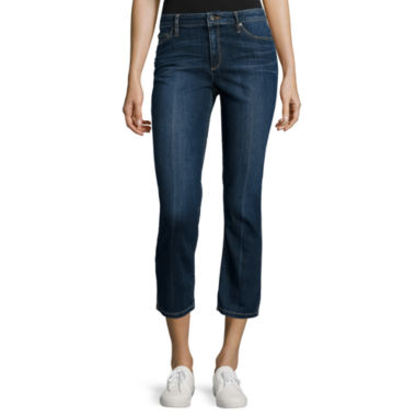 jcpenney.com | Liz Claiborne® City-Fit 5-Pocket Flared Cropped Jeans - Tall
