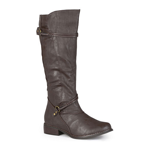Journee Collection Harley Riding Boots - Wide Calf