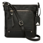 Liz Claiborne® Lara Leather Crossbody Bag