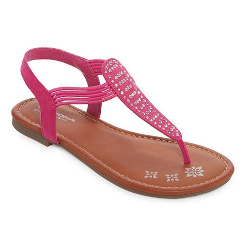 Arizona Sparkling Girls Strap Sandals - Little Kids
