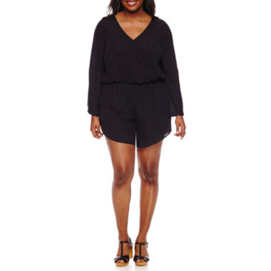 jcpenney.com | Decree Bell Sleeve Romper - Juniors Plus