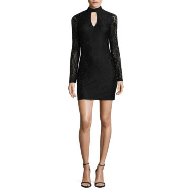 jcpenney.com | by&by Long Sleeve Bodycon Dress-Juniors