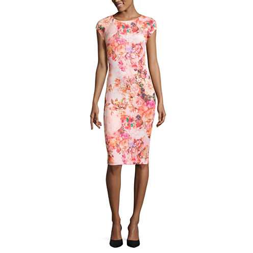 Weslee Rose Short Sleeve Bodycon Dress