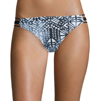 Arizona Mix & Match Strappy Hipster Swimsuit Bottom-Juniors