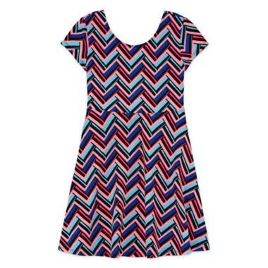 jcpenney.com | Total Girl Short Sleeve Skater Dress - Big Kid