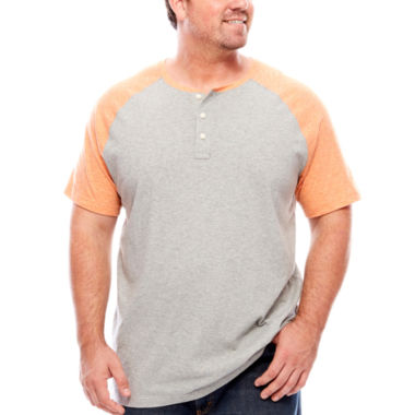 jcpenney.com | The Foundry Big & Tall Supply Co.Colorblock Henley T-Shirt
