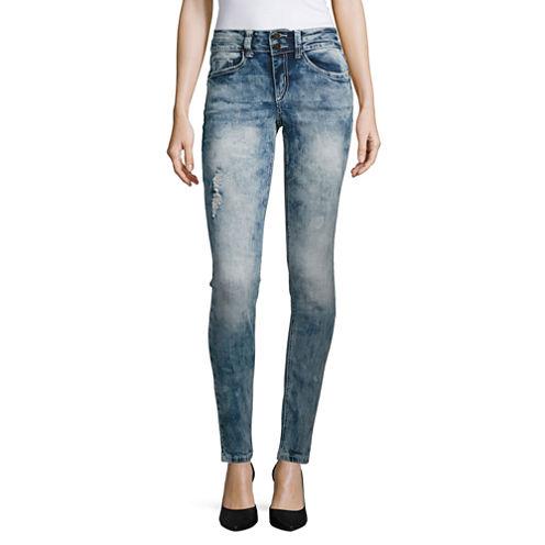 Almost Famous Slight Destructed Skinny Jeans-Juniors
