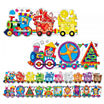 The Learning JourneyPuzzle Doubles, Giant Colors and Shapes Train Floor Puzzles
