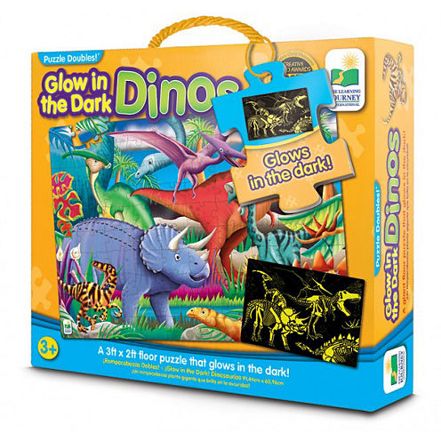 The Learning JourneyPuzzle Doubles, Glow In The Dark, Dino