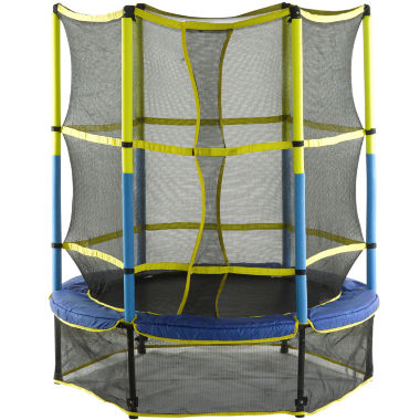 "jcpenney.com | Upper Bounce 55"" Kid-Friendly Trampoline & Enclosure Set"