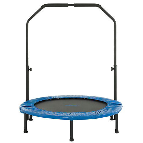 """Upper Bounce® 40"""" Mini Foldable Rebounder Fitness Trampoline with Adjustable Handrail"""