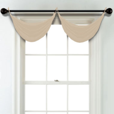 jcpenney.com | JCPenney Home Matte Satin Grommet Unlined Waterfall Valance