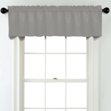 jcpenney.com | JCPenney Home Matte Satin Rod Pocket Poly-Cotton Lined Tailored Valance