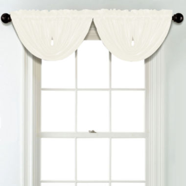 jcpenney.com | JCPenney Home Matte Satin Rod Pocket Blackout Lined Waterfall Valance