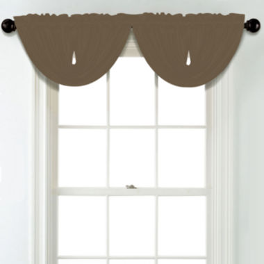 jcpenney.com | JCPenney Home Matte Satin Rod Pocket Unlined Waterfall Valance