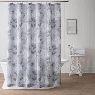 liz claiborne magnolia shower curtain - jcpenney
