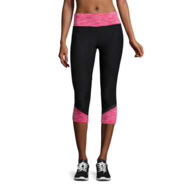 jcpenney.com | Xersion™ Colorblock Mesh Capri