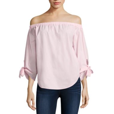 jcpenney.com | i jeans by Buffalo Off Shoulder Tie Sleeve Top