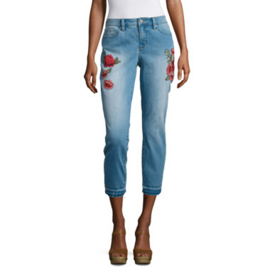 Ana Embroidered Skinny Crop  JCPenney