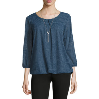 jcpenney.com | Alyx Bubble Crochet Knit Blouse