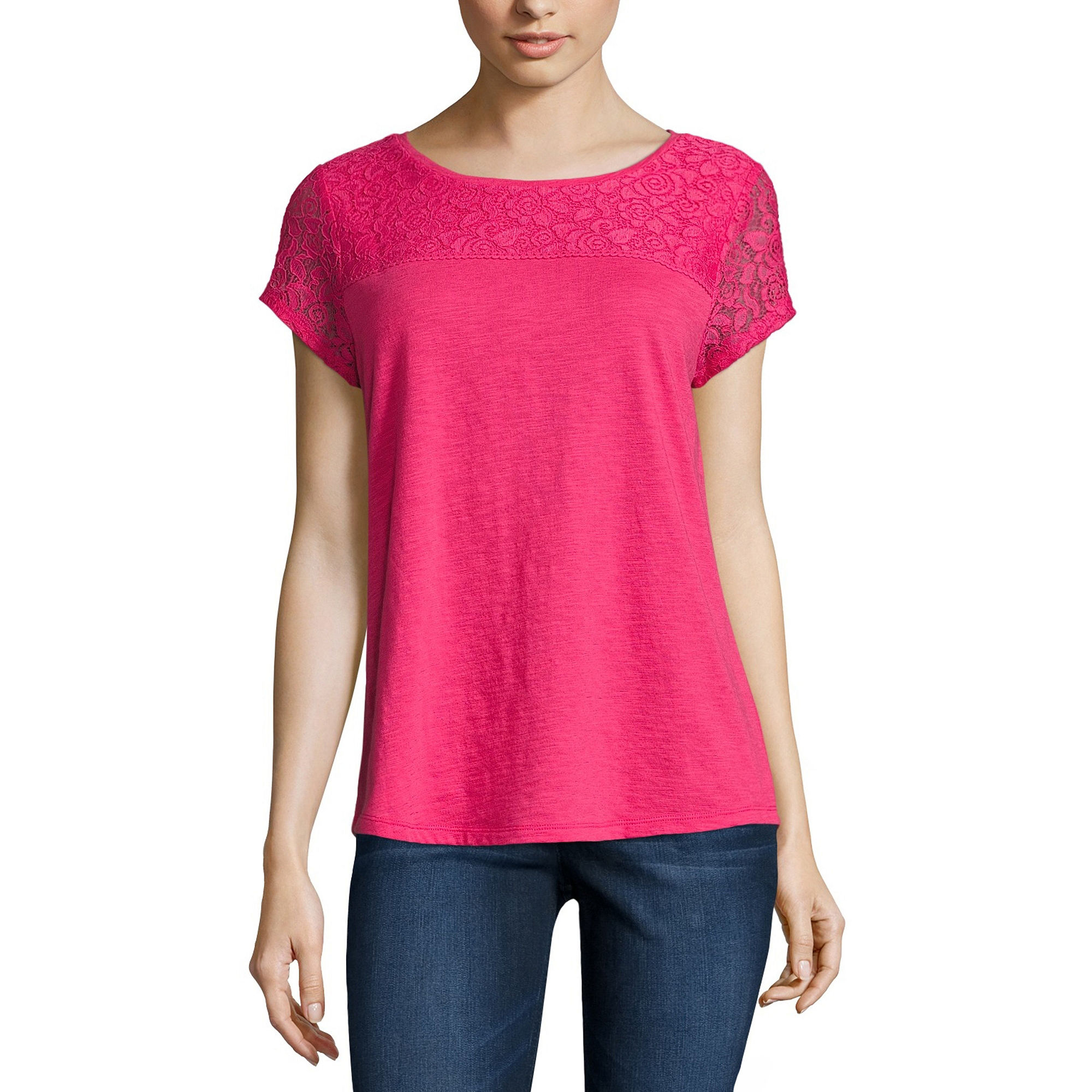 Liz Claiborne Short Sleeve Crew Neck T Shirt | Top and Clothing