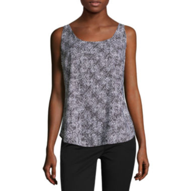 jcpenney.com | Worthington Sleeveless Scoop Neck Woven Blouse