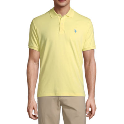 Polo Assn U.S Mens Solid Interlock Short-Sleeve Polo Shirt