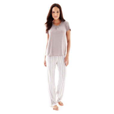 jcpenney.com | Ambrielle® Short-Sleeve Sleep Tee or Knit Pants